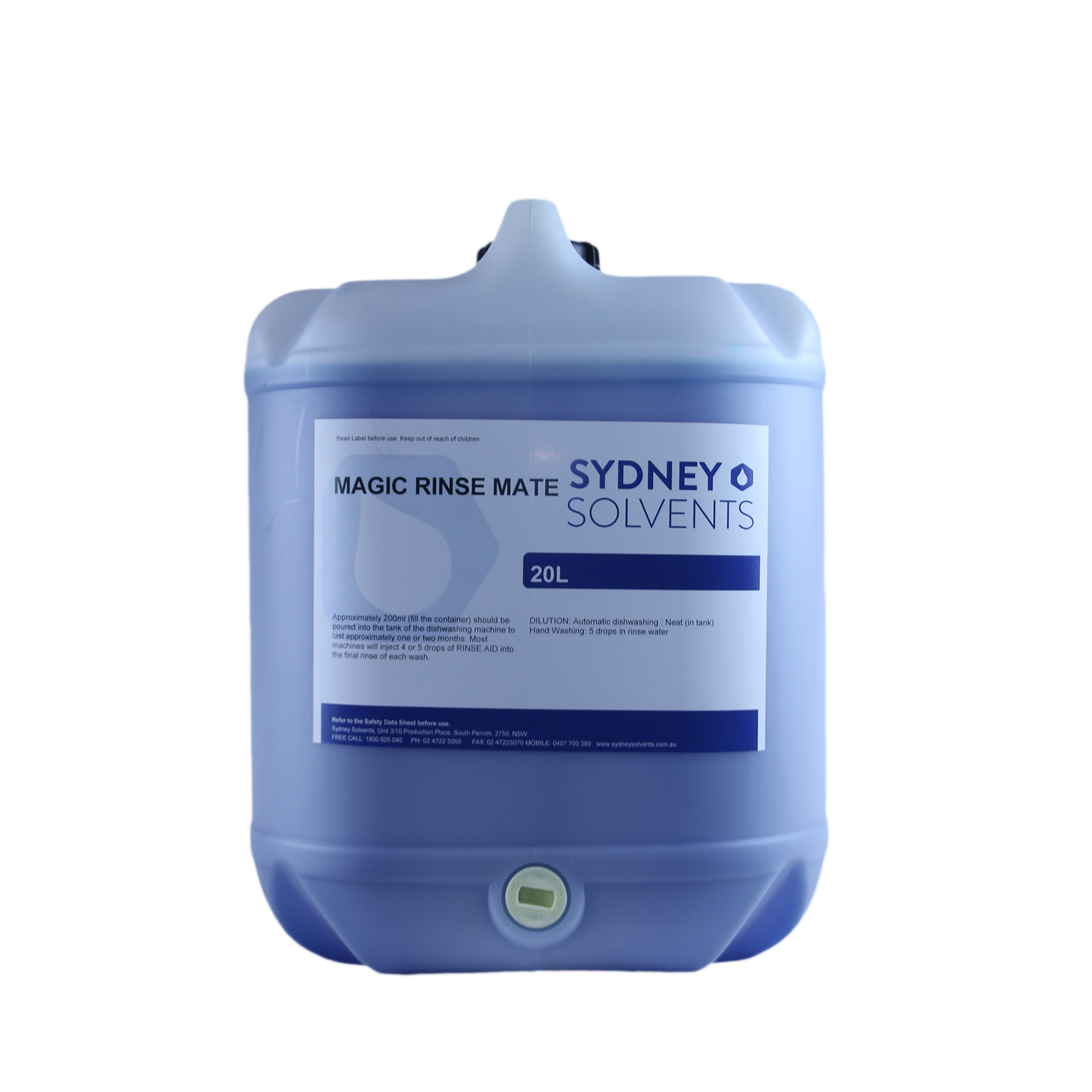 Magic Rinse Mate 20 Litre Sydney Solvents