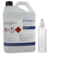 IsoPropyl Alcohol - IPA Isopropanol 100% 5 Litre with 250ml Spray