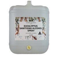 Eucalyptus Sanitising Alcohol Spray 80% 20 Litre